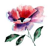 Stylized Poppy flower — Stock Photo