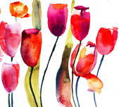 Red Tulips flowers — 图库照片