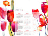 Colorful calendar for 2013 — Stock Photo