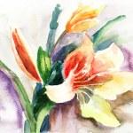 krásná lily květy — Stock fotografie