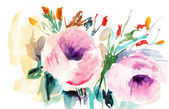 Rosas cor de rosa — Fotografia Stock