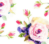 Roses, watercolor illustration — Stock Photo