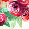 Beautiful Roses flowers, Watercolor painting — Stock Photo