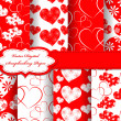 Set of Valentine day vector paper for scrapbook — Stock Photo #10956038