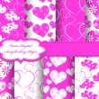 Set of Valentines day vector paper for scrapbook — Stock Photo #10956046