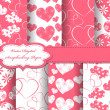Set of Valentines day vector paper for scrapbook — Stock Photo #10956053