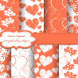 Set of Valentines day vector paper for scrapbook — Stock Photo #10956063