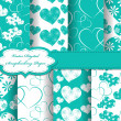 Set of Valentines day vector paper for scrapbook - Foto Stock