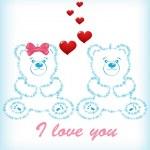 Vector Valentines day teddy bear — Stock Vector