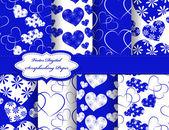 Set of Valentines day vector paper for scrapbook — Vetor de Stock