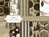 Set of Christmas vector paper for scrapbook — 图库矢量图片