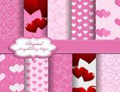 Set van de dag van Valentijnskaarten vector papier voor scrapbook — Stockvector