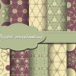 Set of vector flower paper for scrapbook — Vector de stock