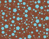 Vector seamless flower pattern — Stock Vector