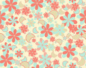 Seamless vector flower pattern — Stock Vector