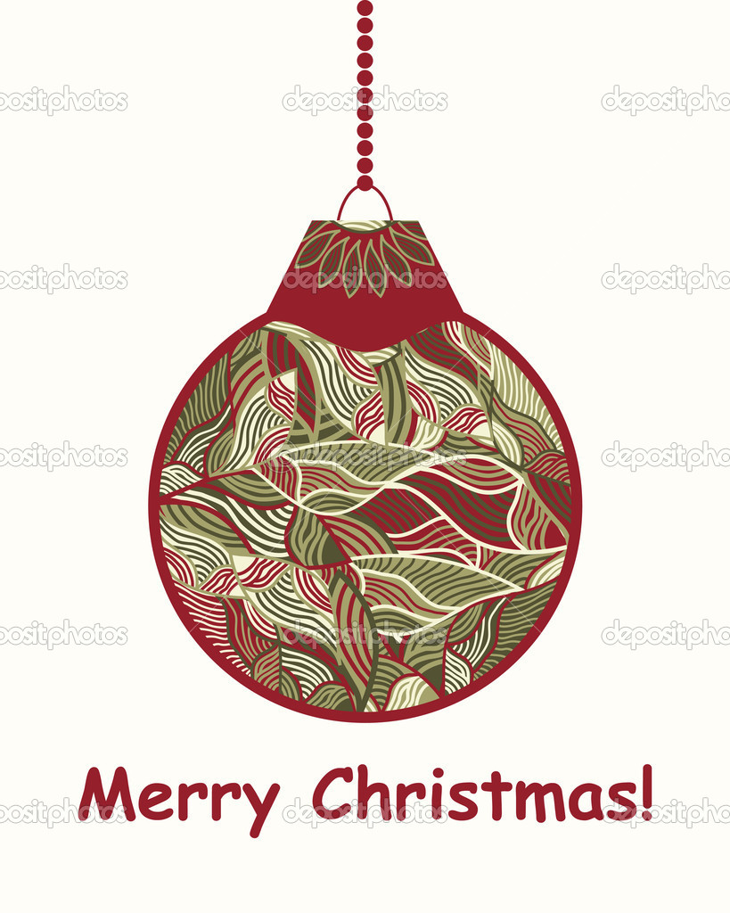Vector stylized Christmas ball — Stock Vector #12182095
