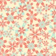 Seamless vector flower pattern - Stock Vector