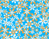 Seamless vector flower pattern — Stock Vector