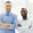 African American and Caucasian business man together — Stock Photo #11675145