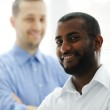 African American and Caucasian business man together — Stock Photo #11675154