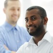African American and Caucasian business man together — Stock Photo #11675160