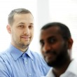 African American and Caucasian business man together — Stock Photo #11675164