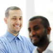 African American and Caucasian business man together — Stock Photo #11675171