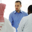 Business meeting somewhere in the Middle east — Stock Photo #11675398