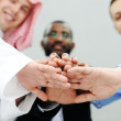 Business team overlapping hands — Stock Photo #11675515