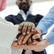 Business team overlapping hands — Stock Photo #11675528