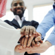 Business team overlapping hands — Stock Photo #11675555