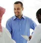 Business meeting at Middle east — Stock Photo