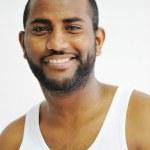 Beautiful black man portrait — Stock Photo