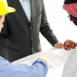 Architects at Middle east discussing engineering design project — Stock Photo #11689582
