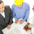 Architects at Middle east discussing engineering design project — Stock Photo #11689591