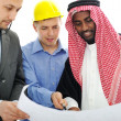 business having consultanting about new project at middle — Stock Photo