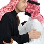 Two Arabic men having warm meeting — Stock Photo