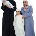 Happy Muslim family — Stock Photo