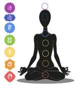 Seven chakras — Cтоковый вектор
