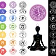Seven chakras - Stock Photo