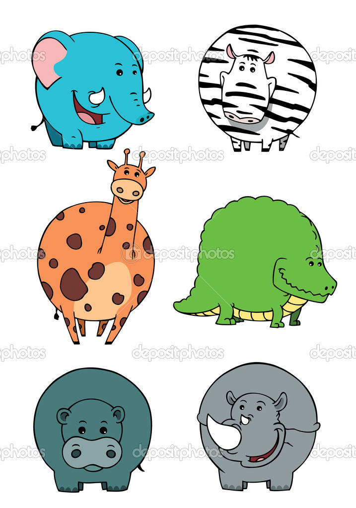 Isolated cute  animals cartoons collections — Stock Photo #11415008