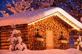 Christmas htunsnow — Stock Photo