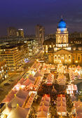 Christmas market on gendarmenmarkt berlin germany — Stock Photo