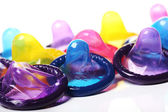Close up of colorful condoms — Stock Photo