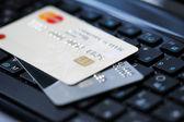 Klavye kredi kartları — Stok fotoğraf