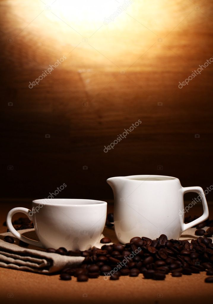 Cup of hot black coffe — Stock Photo #10926499