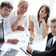 Stock Photo: Group of businesspeople on meeting