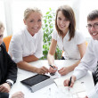 Group of businesspeople on meeting — Stock Photo #10930238