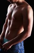 Attraente corpo di giovane — Foto Stock
