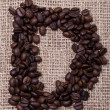 Latter from coffee beans — Stock Photo